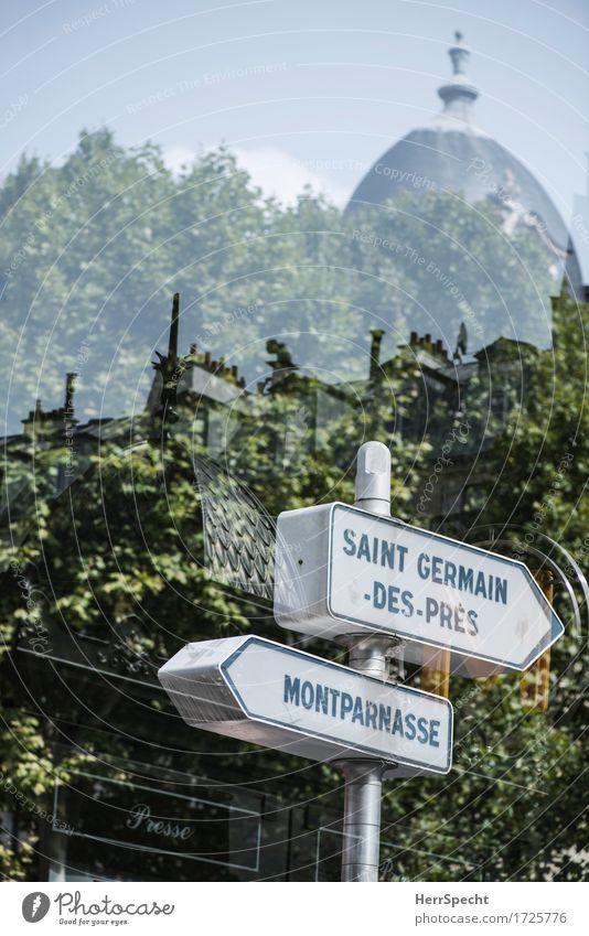 Pariser Impression Frankreich Hauptstadt Stadtzentrum Haus Dach Schriftzeichen Schilder & Markierungen außergewöhnlich Doppelbelichtung Montparnasse