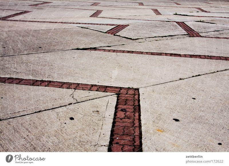 Bitterfelder Weg Platz Parkplatz Bürgersteig gehweg Bodenplatten Beton pflaster Pflastersteine Kopfsteinpflaster Stein Mauerstein Muster Strukturen & Formen