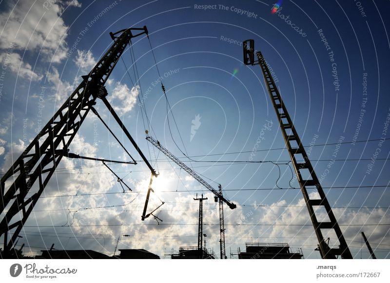 Freiburg wächst Himmel Sonne Stadt Haus Wolken Gebäude planen Horizont Industrie modern Energiewirtschaft Wachstum Güterverkehr & Logistik Baustelle leuchten Bauwerk