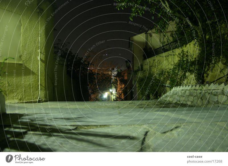 Nachtschicht dunkel Treppe Platz stehen Freizeit & Hobby abwärts