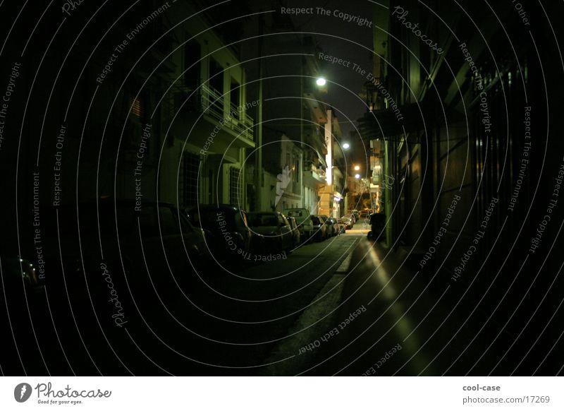 was machst du nachts? Straße Beleuchtung Angst Aktion Spaziergang historisch Kriminalität Gasse Diebstahl