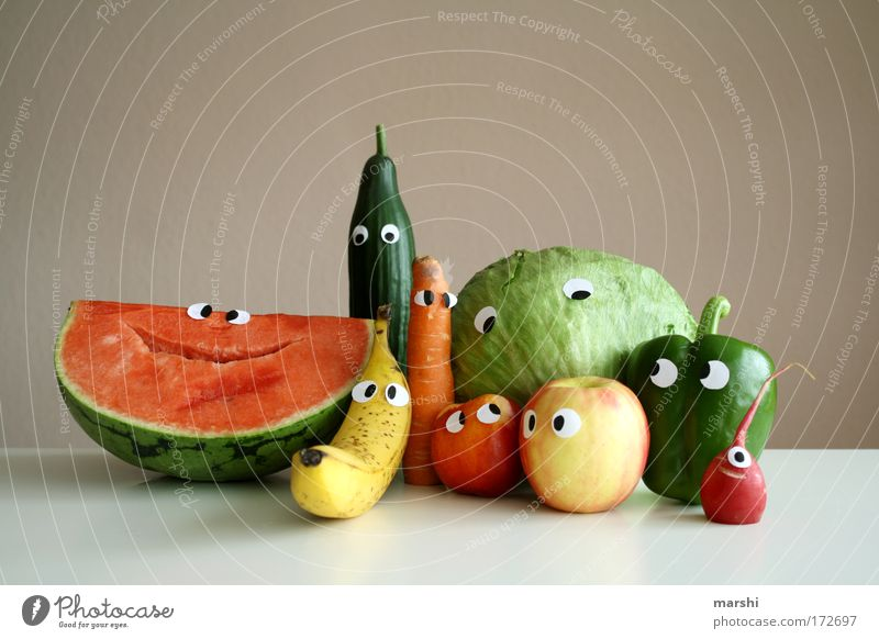 Familienporträt Freude Gesicht Auge Gefühle lustig Gesundheit Lebensmittel Familie & Verwandtschaft Frucht mehrere Lächeln frisch Porträt Ernährung