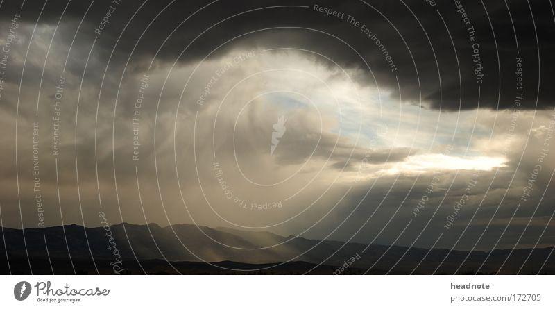 Death Valley Natur Wasser Himmel Sommer schwarz Wolken Berge u. Gebirge grau See Denken Wärme Regen Landschaft braun Umwelt
