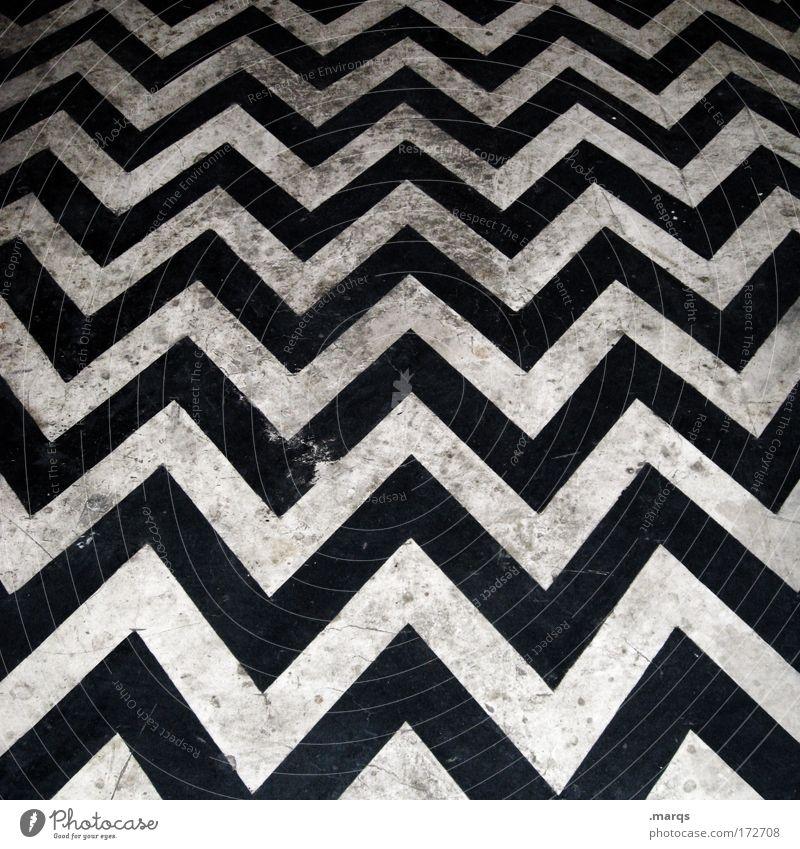Dirt on the Dancefloor weiß schwarz Stil Linie Tanzen dreckig elegant Design Lifestyle Bodenbelag Streifen einzigartig Grafik u. Illustration Club Symmetrie eckig