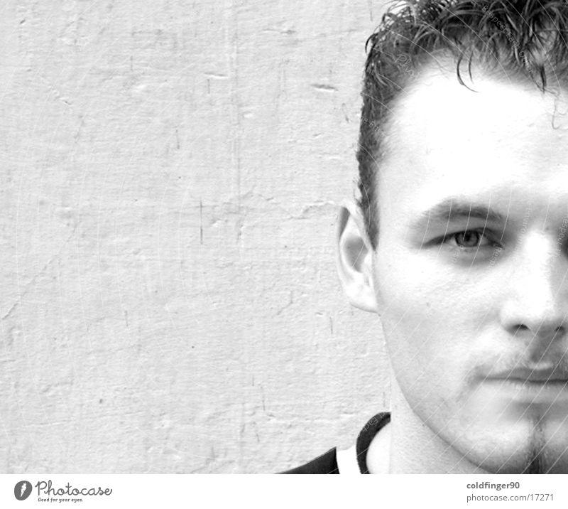 Der Ricl Mann schön weiß Gesicht schwarz Wand Haare & Frisuren Bart schick