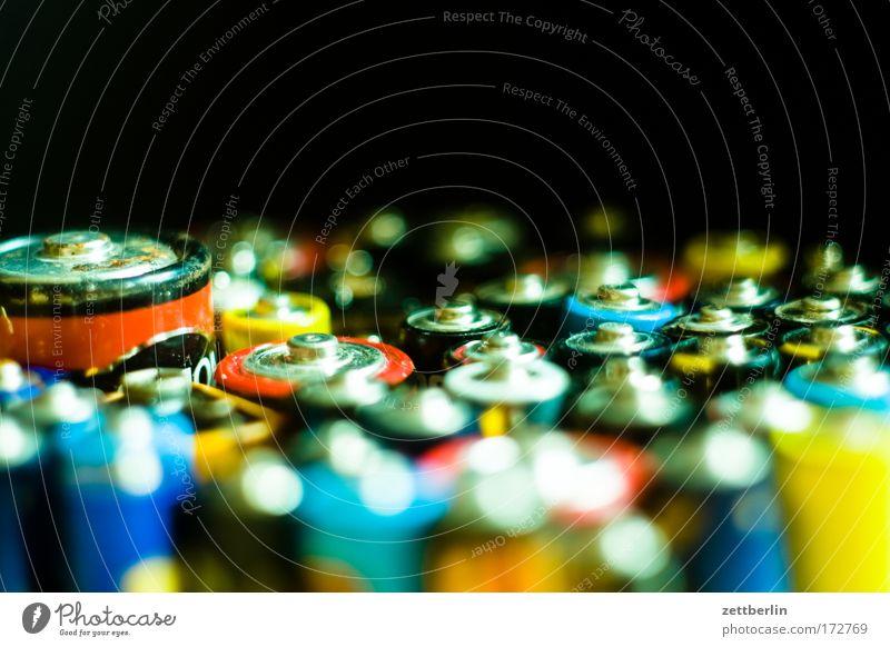 Batterien Energie Energiewirtschaft Elektrizität Kabel Müll Batterie Versorgung Plus Sondermüll