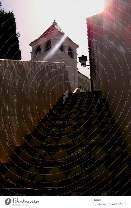 Lichterblick schön alt Sonne Sommer Ferien & Urlaub & Reisen ruhig Haus Wand Freiheit Mauer Wärme hell Stimmung Fassade Ausflug