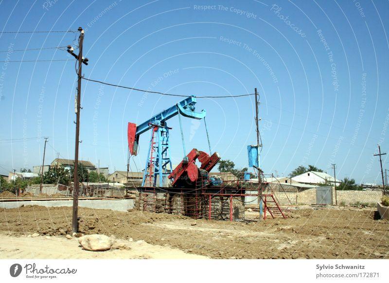 Aserbaidschan Natur Landschaft Wetter Umwelt Industrie Energiewirtschaft Technik & Technologie Klima Reichtum Maschine Unwetter Schönes Wetter Sorge Umweltschutz Umweltverschmutzung Klimawandel