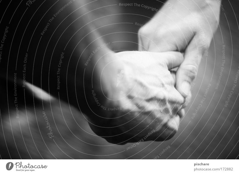komm mit mir... Frau Erwachsene Mann Paar Hand 2 Mensch berühren festhalten genießen Liebe Glück positiv Gefühle Vertrauen Sicherheit Geborgenheit Sympathie