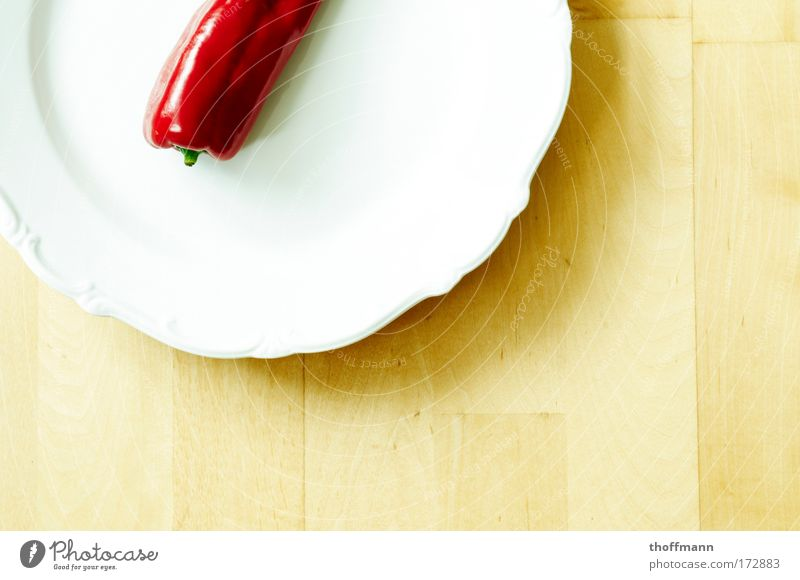 Deutschland ist zu fett - Diät angesagt! rot Ernährung Lebensmittel Gemüse lecker Teller Diät saftig Parkett Nutzpflanze