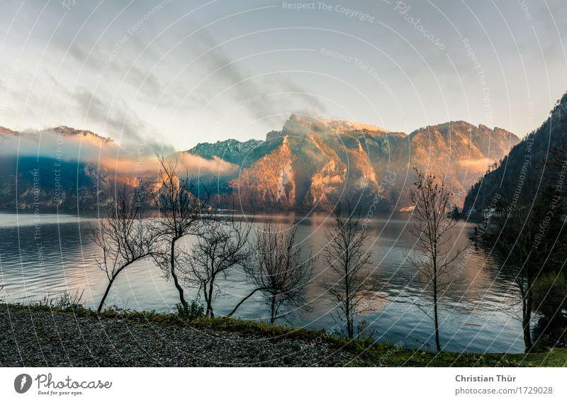 Traunsee Natur Ferien & Urlaub & Reisen Baum Landschaft Erholung Strand Winter Berge u. Gebirge Umwelt Leben Gefühle Schnee See Tourismus Zufriedenheit wandern