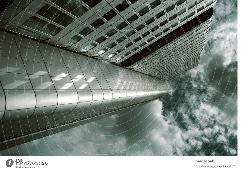 Frankfurt Bank Hochhaus Skyline Reichtum Bankenkrise Stadt Architektur Gebäude Business Kraft Erfolg Luftverkehr Bürogebäude Zukunft Macht Baustelle Leben