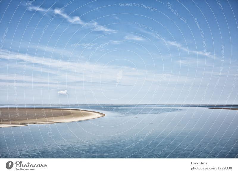 Wattenmeer Schleswig-Holstein Himmel Natur Ferien & Urlaub & Reisen blau Sommer Wasser Sonne Landschaft Meer Ferne Strand Umwelt Küste Freiheit