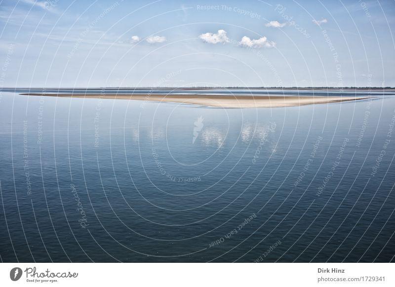Wattenmeer Schleswig-Holstein Himmel Natur Ferien & Urlaub & Reisen blau Sommer Wasser Sonne Landschaft Meer Wolken Ferne Umwelt natürlich Küste Freiheit Sand