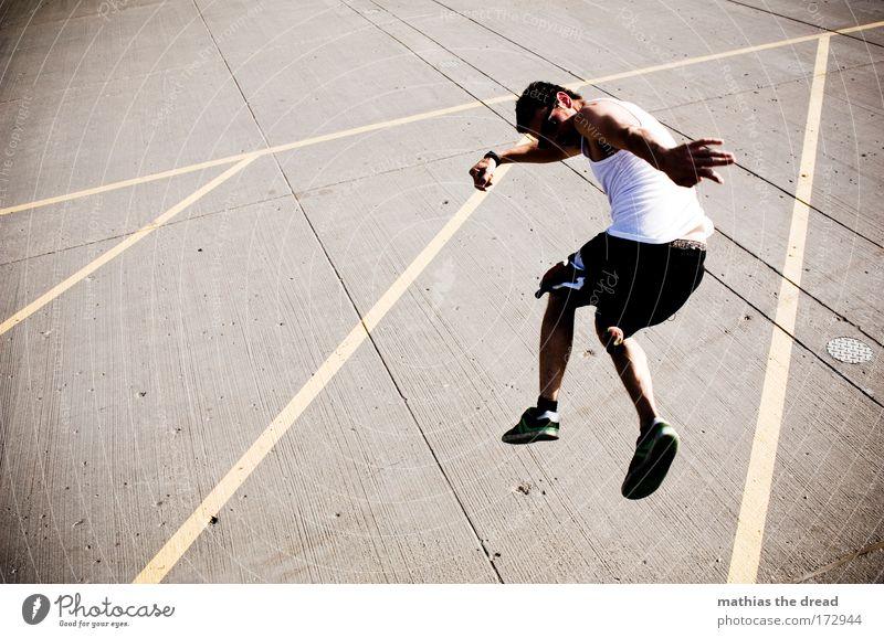 KINDER DES OLYMP Jugendliche Sommer Freude Erwachsene Leben Sport Spielen springen Stil Freizeit & Hobby Schilder & Markierungen maskulin Platz Erfolg außergewöhnlich