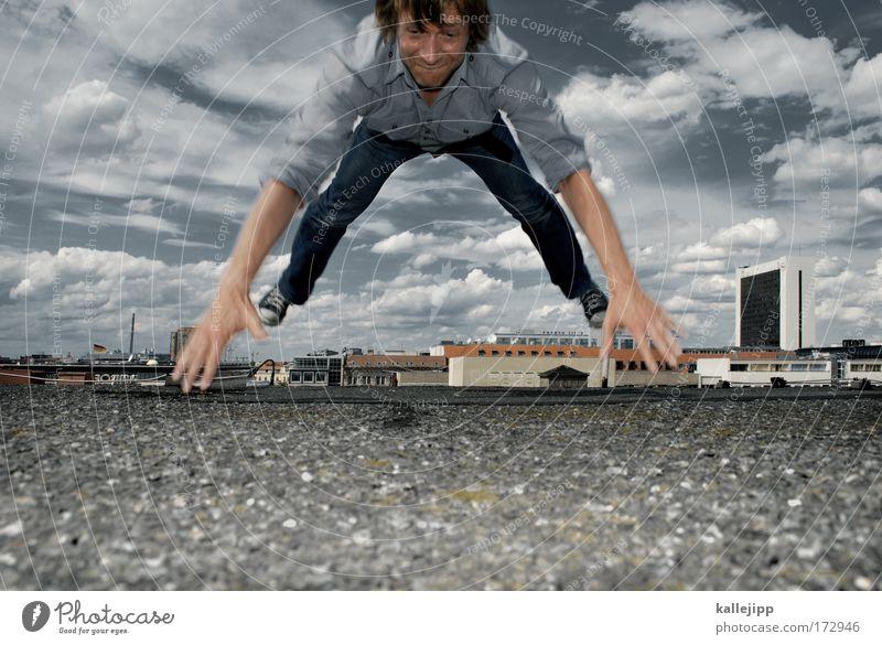 karlson vom dach Mensch Mann Stadt Haus Erwachsene Bewegung Haare & Frisuren Kopf Gebäude Stil Beine Gesundheit Freizeit & Hobby Arme maskulin Lifestyle