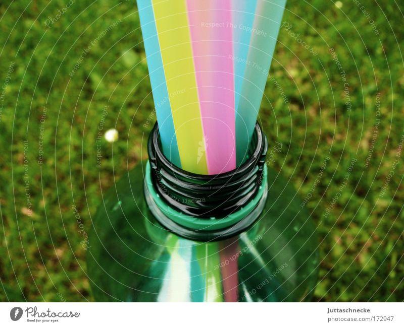 Malle-Mineral Flasche Flaschenhals Trinkhalm Mallorca Ballermann Durst trinken durstig Getränk Erfrischung mehrfarbig Mineralien Mineralwasser Juttaschnecke