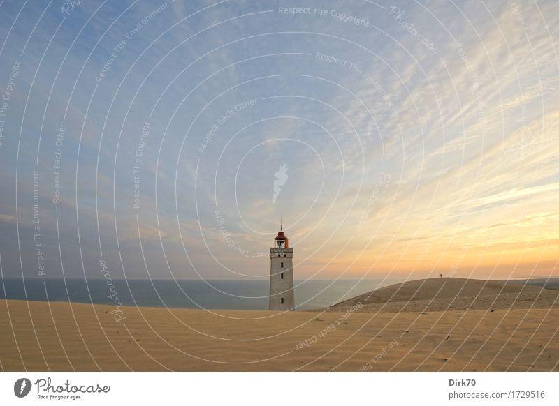 Weite Horizonte Tourismus Landschaft Himmel Wolken Sonnenaufgang Sonnenuntergang Sonnenlicht Sommer Schönes Wetter Küste Strand Nordsee Meer Düne