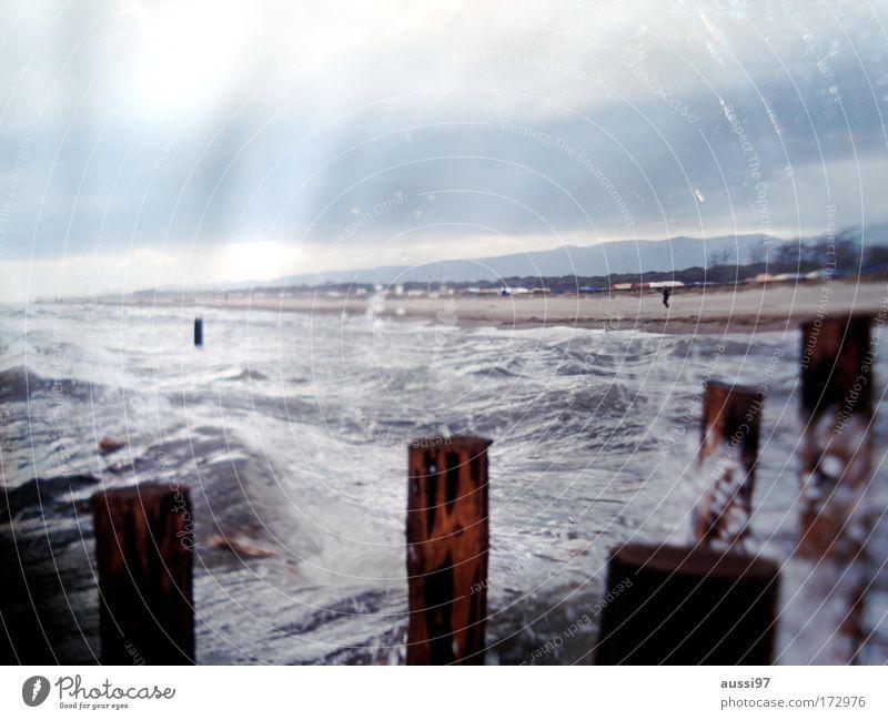 Gewalten Wellen Nordsee Gischt Naturgewalt