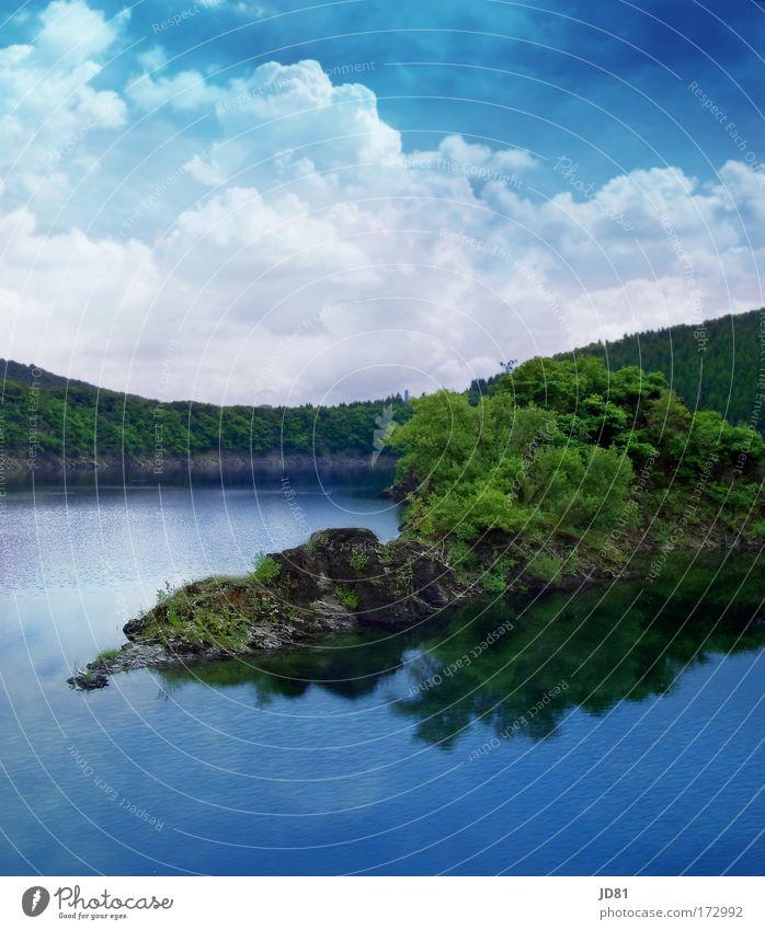 ich brauch keinen Urlaub... Himmel Natur Wasser grün blau Pflanze Sommer Ferien & Urlaub & Reisen Wolken Tier Erholung Freiheit Landschaft Wetter Freizeit & Hobby Insel