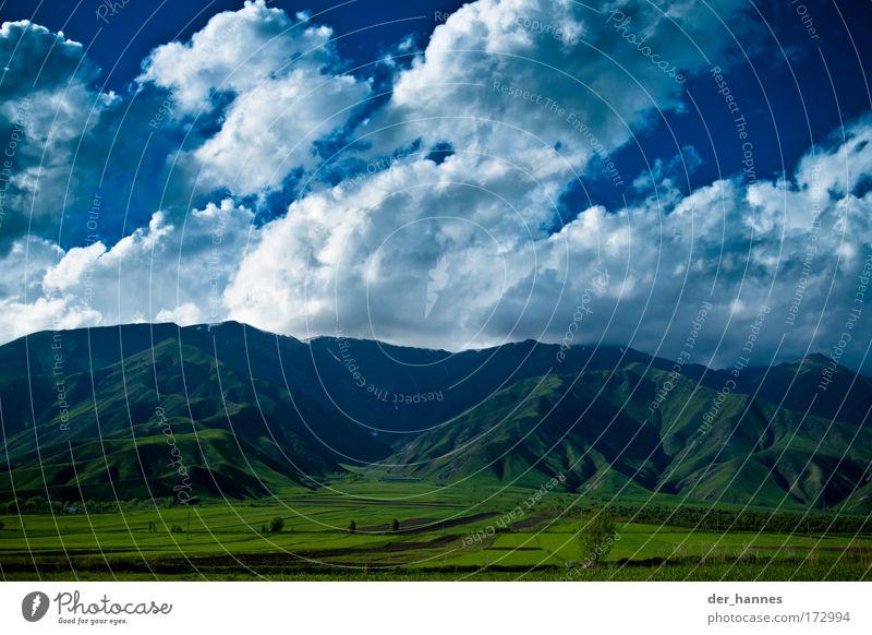 clouds Farbfoto Außenaufnahme Menschenleer Textfreiraum unten Tag Kontrast Zentralperspektive Weitwinkel Umwelt Natur Landschaft Himmel Wolken Gewitterwolken
