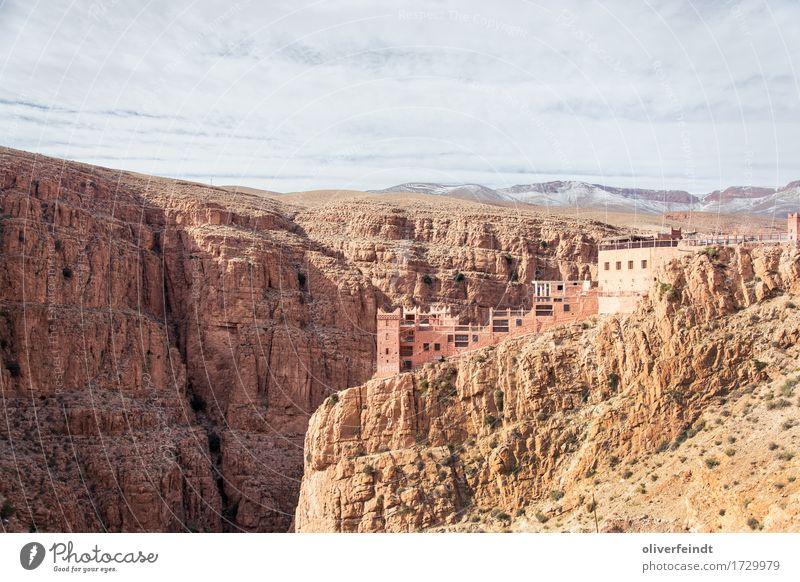 Gorges du Dades - Marokko Himmel Natur Ferien & Urlaub & Reisen schön Landschaft Wolken Haus Ferne Berge u. Gebirge Umwelt gelb außergewöhnlich Freiheit braun Felsen Horizont