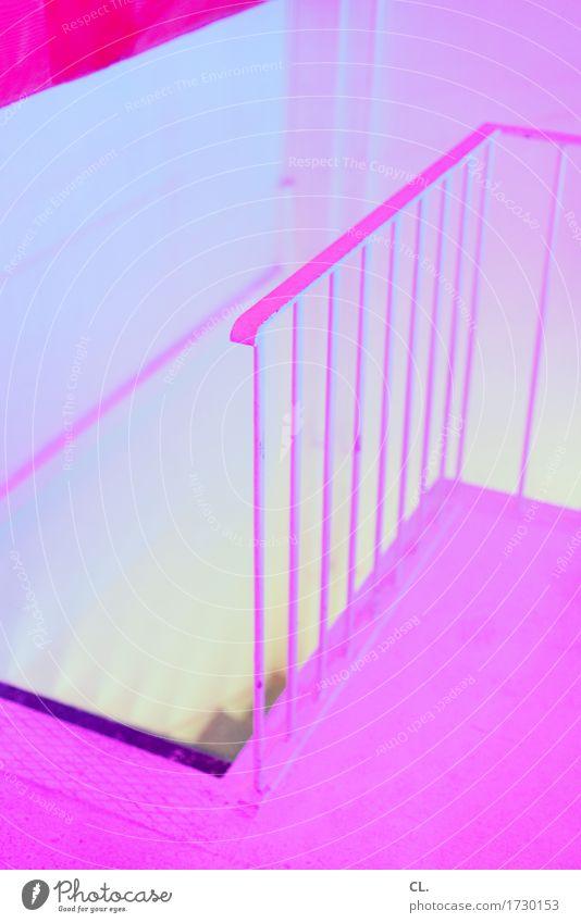 the pink room Farbe gelb Wand Mauer außergewöhnlich rosa Treppe Häusliches Leben ästhetisch Kreativität Boden geheimnisvoll Treppengeländer gruselig eckig