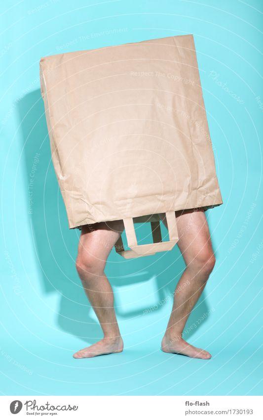 THE WALKING BAG VI Mensch Jugendliche Mann nackt Erotik Junger Mann Freude 18-30 Jahre Erwachsene Lifestyle Stil Kunst Business Design maskulin Freizeit & Hobby