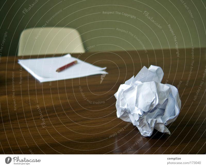 No Idea! Arbeit & Erwerbstätigkeit Gedanke Management Mensch Büro Holz Schule Business Raum Wohnung Erfolg Tisch Papier Studium lernen Stuhl