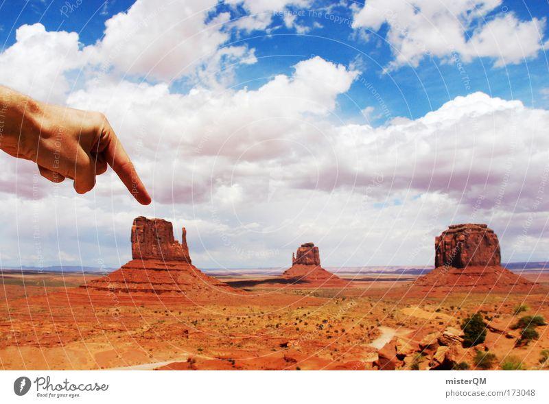 Guckst du hier. Natur schön Ferien & Urlaub & Reisen oben Stein groß Felsen 3 hoch Tourismus USA Reisefotografie Ziel Klettern Berge u. Gebirge Utah