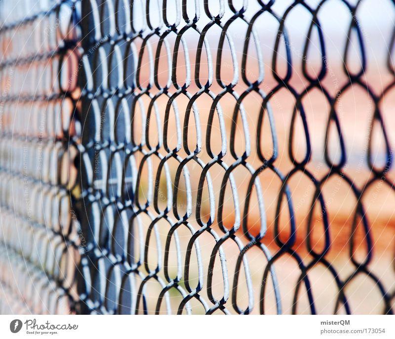 Somewhere Behind. Freiheit bedrohlich Schutz Sicherheit USA Zaun Netz Barriere Grenze gefangen Draht Nachbar Frustration Justizvollzugsanstalt Erzählung