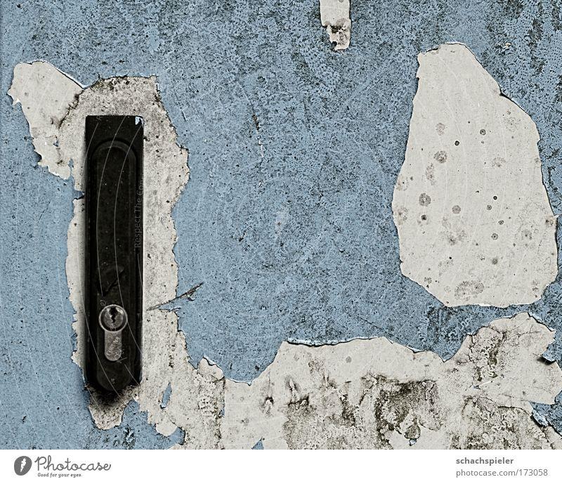 alt aber zu blau geschlossen Energiewirtschaft Kunststoff Schloss abblättern Farben und Lacke Verteiler