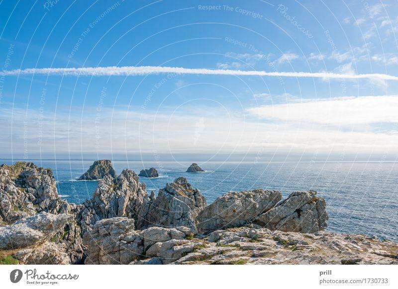 Pointe de Pen-Hir in Brittany Sommer Meer Insel Landschaft Wasser Felsen Küste Riff Stein Unendlichkeit pointe de penhir Bretagne Finistere Frankreich