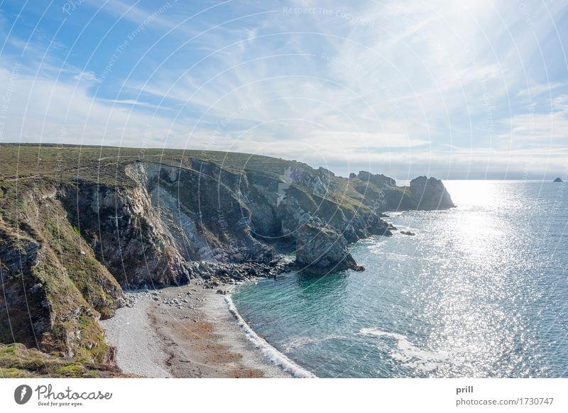 Pointe de Pen-Hir in Brittany Sommer Strand Meer Landschaft Sand Wasser Felsen Küste Stein Abenteuer pointe de penhir Bretagne Finistere Frankreich
