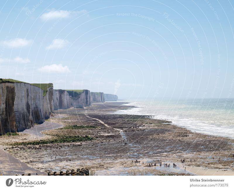 Mers-les-Bains/Ault Mensch Himmel Natur Wasser Ferien & Urlaub & Reisen schön Sommer Meer Strand Erholung Umwelt Ferne Landschaft kalt Bewegung Küste