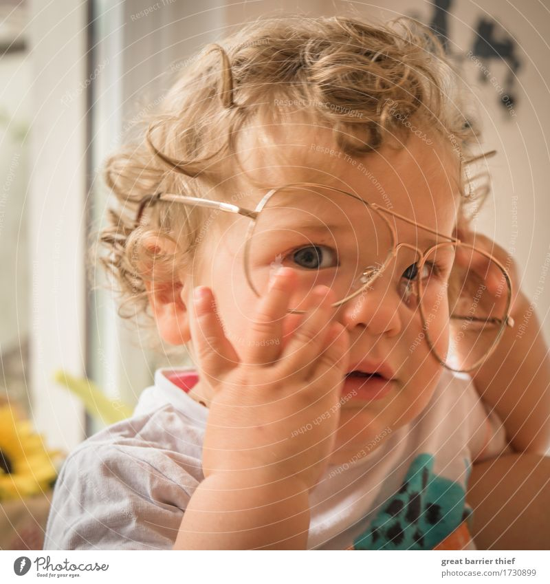Prof. Dr. Lockenbrilli Mensch feminin Kind Baby Kleinkind Mädchen Geschwister Schwester Familie & Verwandtschaft Kindheit Leben 1 1-3 Jahre authentisch
