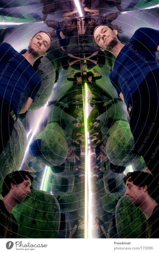 rorschach test Farbfoto mehrfarbig Innenaufnahme Experiment abstrakt Muster Kunstlicht Reflexion & Spiegelung Weitwinkel Oberkörper Ganzkörperaufnahme