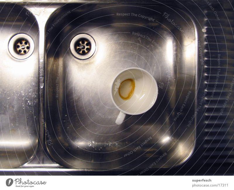 Nirosta und Tasse [1] Küche Stahl Geschirr Schalen & Schüsseln Abfluss Waschbecken Geschirrspülen Grüner Tee