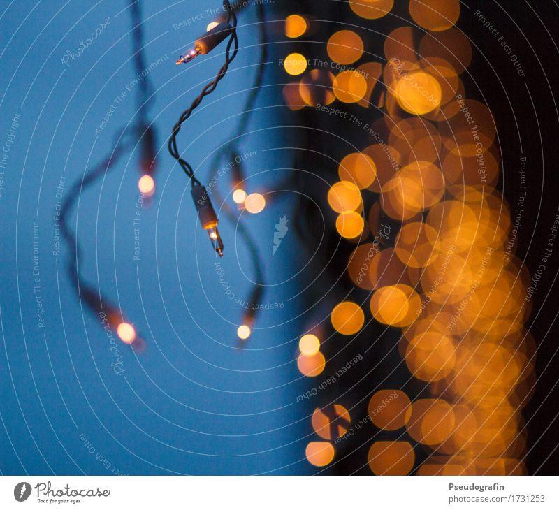 Weihnachtsbeleuchtung Dekoration & Verzierung Kitsch Krimskrams ästhetisch dunkel glänzend schön rund orange Stimmung Vorfreude Warmherzigkeit Zufriedenheit