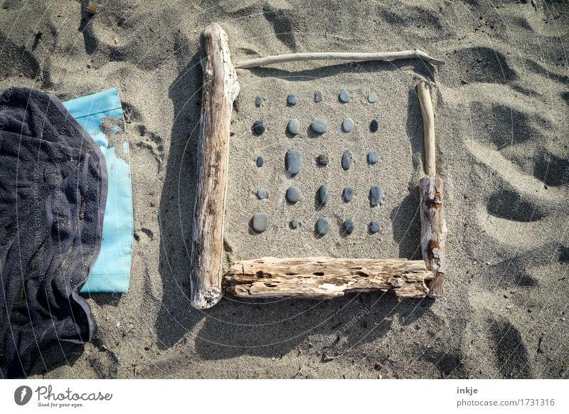 Zeit zum Sammeln harmonisch Erholung Freizeit & Hobby Ferien & Urlaub & Reisen Sommer Sommerurlaub Sonne Strand Sand Schönes Wetter Sammlung Kieselsteine Stein