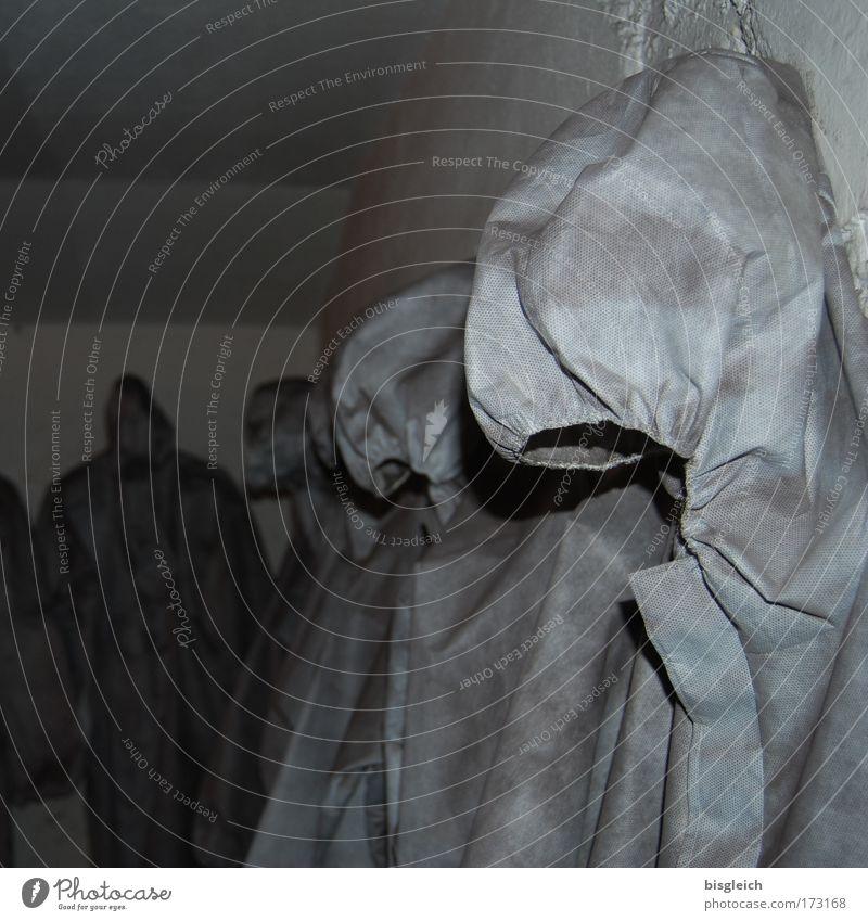 Im Bunker I grau gruselig Kunststoff Kapuze Schutzanzug Schutzbekleidung