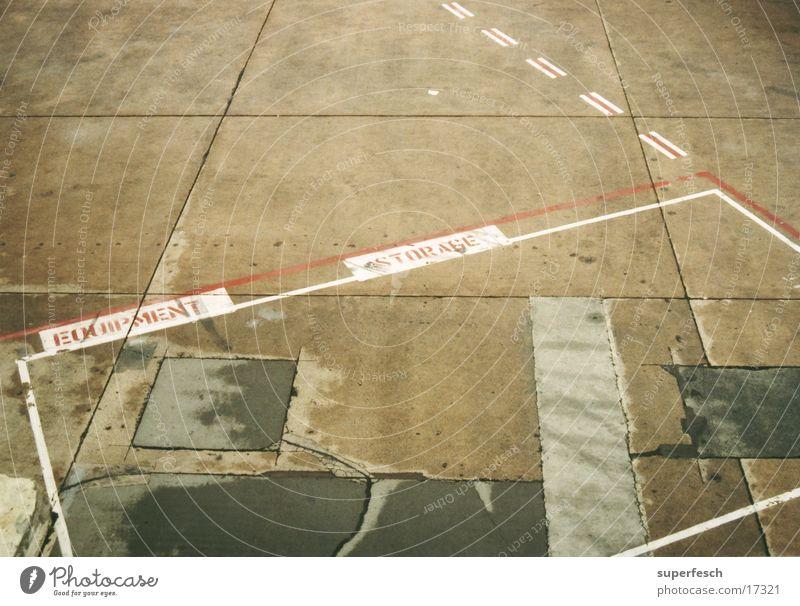 [ Equipment ]___[ Storage ] Flugplatz Beton Luftverkehr Flughafen Schilder & Markierungen Linie