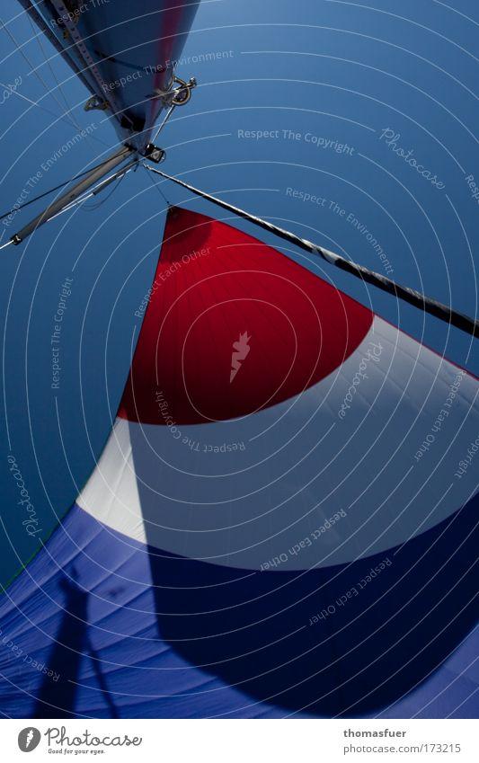 fly and dream Natur Meer blau rot Sommer Freude Ferien & Urlaub & Reisen Ferne Sport Erholung Freiheit fliegen Menschenleer Farbfoto ästhetisch