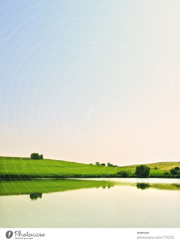 Naherholungsgebiet I Himmel Natur grün Wasser Sommer Erholung Einsamkeit ruhig Landschaft gelb Umwelt Wiese Frühling See Feld Zufriedenheit
