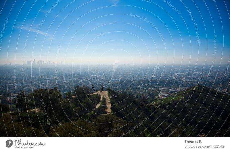 L.A Ferien & Urlaub & Reisen Tourismus Ferne Städtereise Schönes Wetter Los Angeles Amerika USA Kalifornien Stadt Hauptstadt Stadtzentrum Skyline Hochhaus