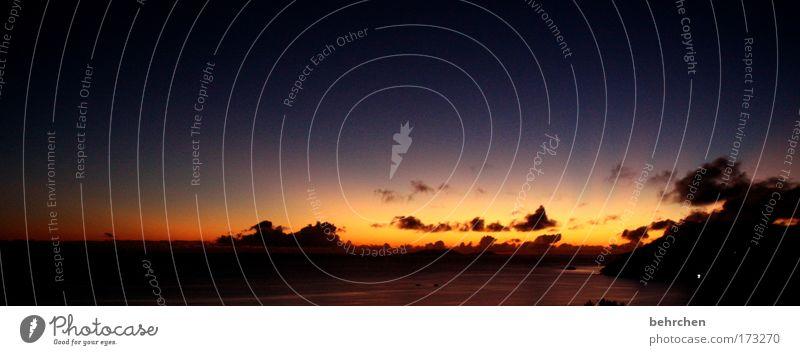 kitsch gehört einfach dazu! Himmel Sonne Strand Ferien & Urlaub & Reisen Meer Wolken Ferne Erholung Freiheit Glück träumen Küste orange Zufriedenheit