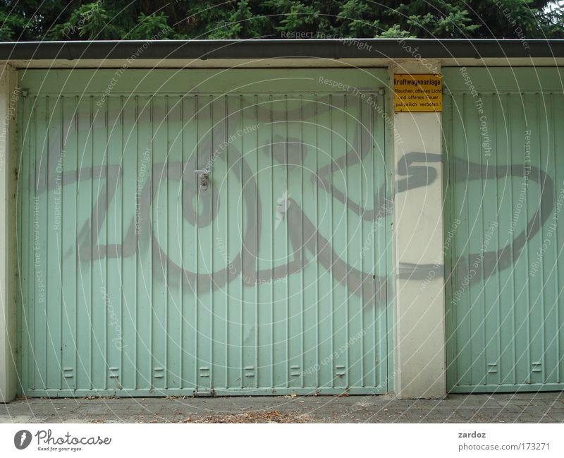 Torheit Graffiti lustig Schlagwort geschlossen frisch authentisch Buchstaben einfach türkis skurril Typographie Wort Inspiration Garage Witz Sprache