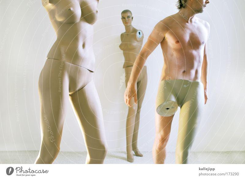 zensur-ursula Farbfoto Gedeckte Farben Innenaufnahme Akt Experiment Tag Licht Totale Ganzkörperaufnahme Lifestyle schön Körperpflege Mensch maskulin Frau