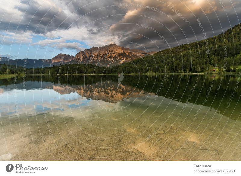 Schon bald Schwimmen & Baden Angeln Ferien & Urlaub & Reisen Berge u. Gebirge Natur Landschaft Wasser Gewitterwolken Horizont Sommer Klimawandel