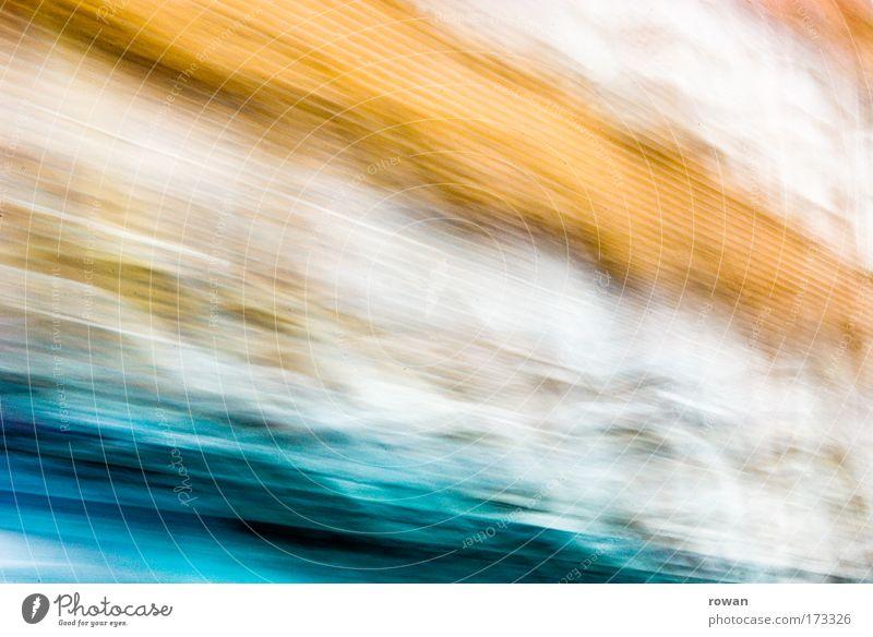 verwackelt Farbfoto Außenaufnahme Experiment abstrakt Muster Strukturen & Formen Hintergrund neutral Unschärfe Bewegungsunschärfe fahren Farbenspiel Orange blau
